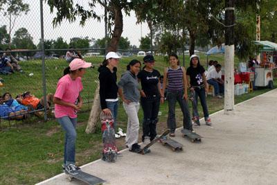 El Primer Chica Rider Skate Jam, celebrado en la Ciudad de México el
